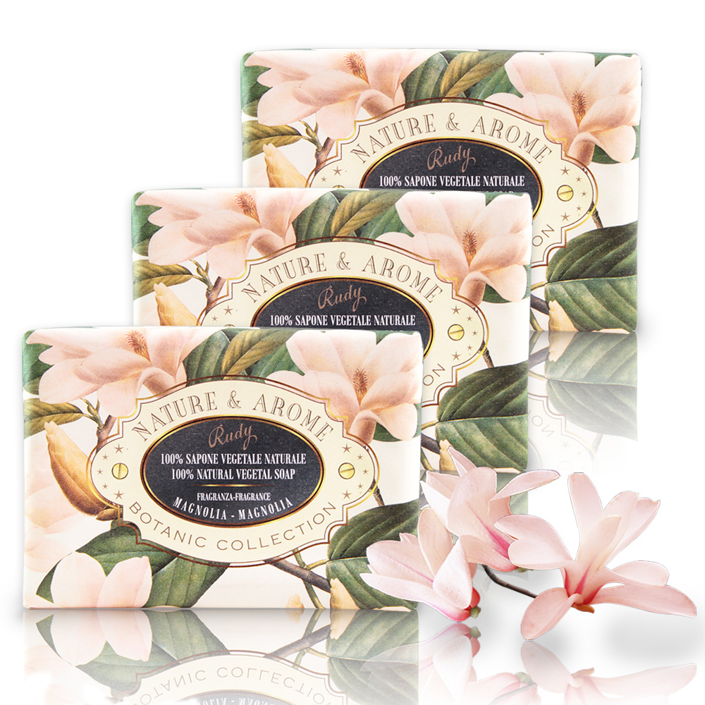 義大利N&A木蘭花保濕香皂150g三入