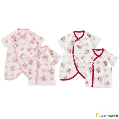 Nishiki 日本株式會社 玫瑰花綁帶連身衣兩件組