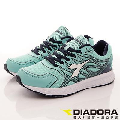 DIADORA-專業彈力跑鞋款-RSI005綠(女段)