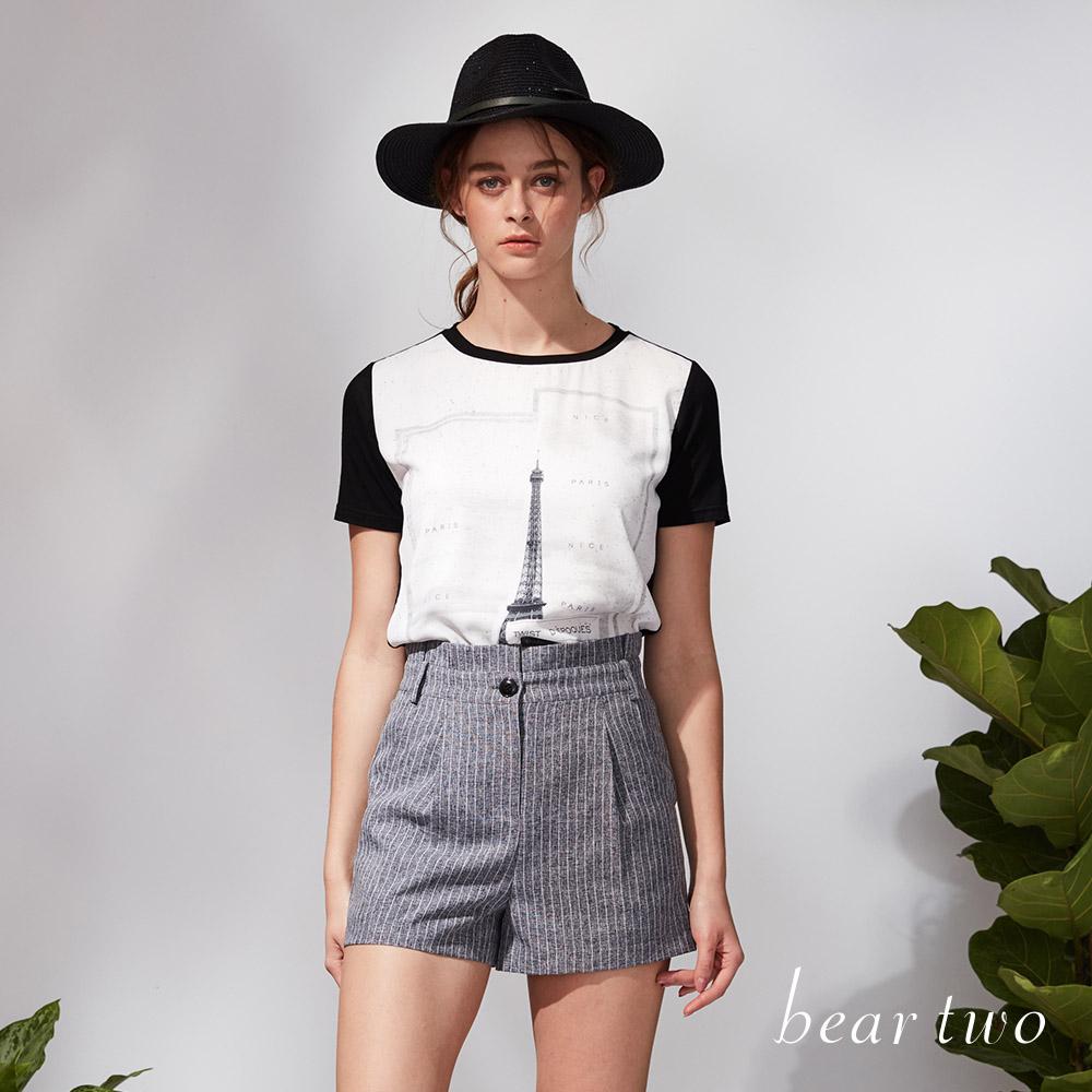 beartwo 浪漫巴黎印花上衣(三色)