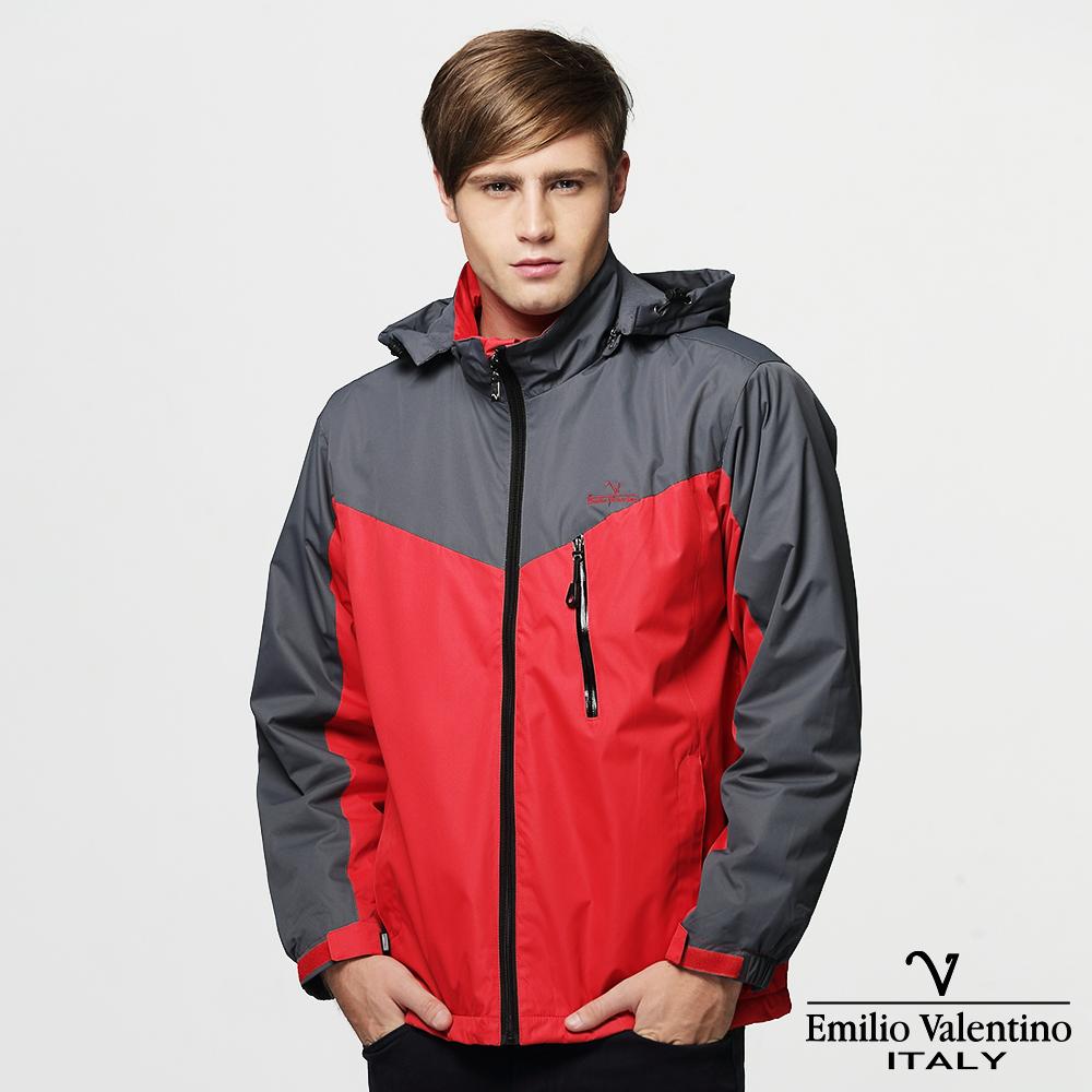 Emilio Valentino 范倫提諾防風刷毛外套-紅