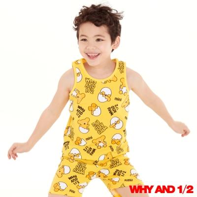 WHY AND 1/2 蛋黃普普熊家居背心 黃色11Y~12Y