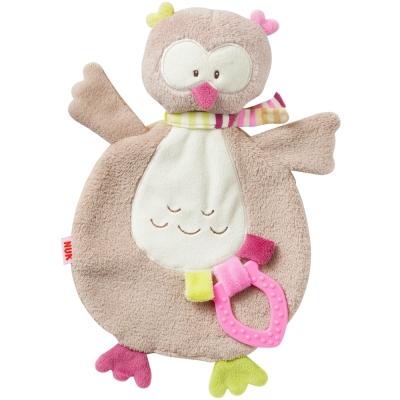 德國NUK絨毛玩具-貓頭鷹玩偶固齒器