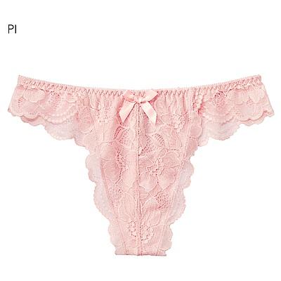 aimerfeel 淑女蕾絲交叉包覆丁字褲-粉紅色