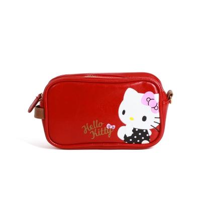 Sanrio HELLO KITTY可愛姿態壓印PU皮革化妝包