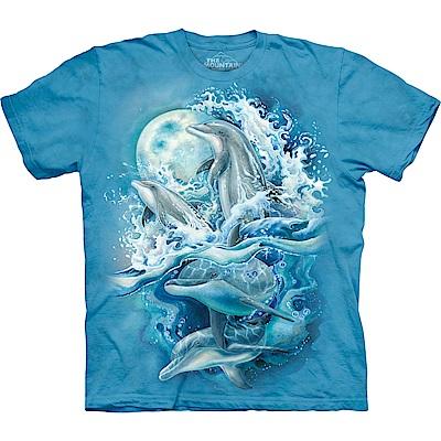 摩達客 美國進口The Mountain 夜月海豚 純棉環保短袖T恤