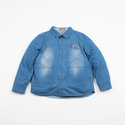 PIPPY 超質感針織牛仔上衣 藍