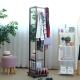 EASY HOME-實木多功能掛衣鏡附活動輪(胡桃色)-48x52x163.1cm product thumbnail 1