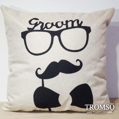 TROMSO-品味英倫棉麻抱枕/伯爵紳士