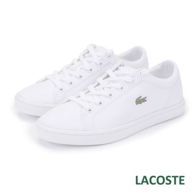 LACOSTE-女用休閒帆布鞋-白色