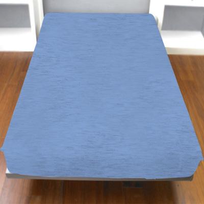 Yvonne Collection雙人麻花純棉床包-中藍