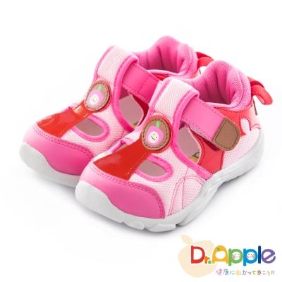 Dr. Apple 機能童鞋 微笑蘋果經典涼鞋款 粉紅