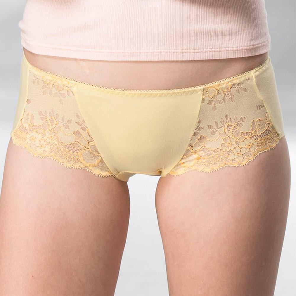 華歌爾 典雅迷人M-LL中低腰平口內褲(曙光黃)