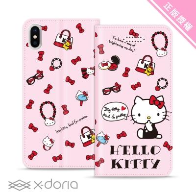 Hello Kitty iPhone X 彩繪磁吸皮套 - 珠寶