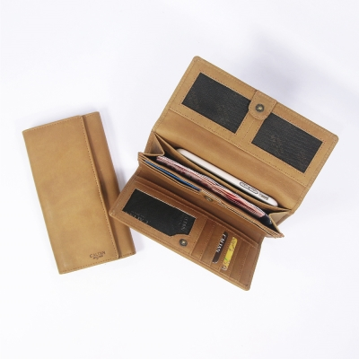 CALTAN-女用真牛皮夾-皮件-長夾-卡片夾-信用卡夾-鈔票夾-零錢包-2169ht