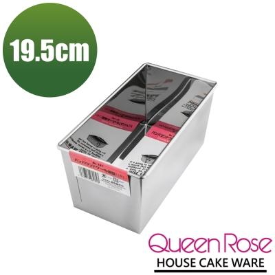 日本霜鳥QueenRose 19.5cm不鏽鋼長方型蛋糕模-(1斤)-日本製