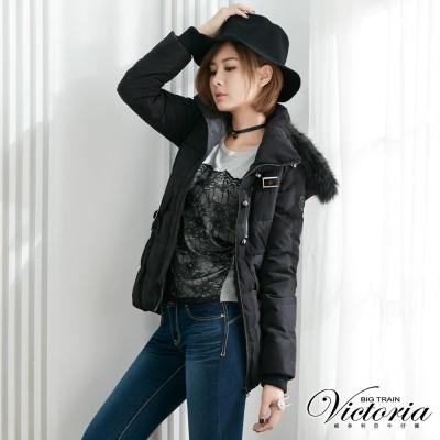 Victoria 花苞絲棉外套-女-黑色