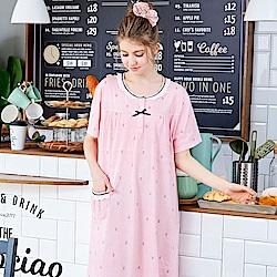 睡衣 海軍風蕾絲條紋連身睡衣(R75027-8紅條紋) 蕾妮塔塔