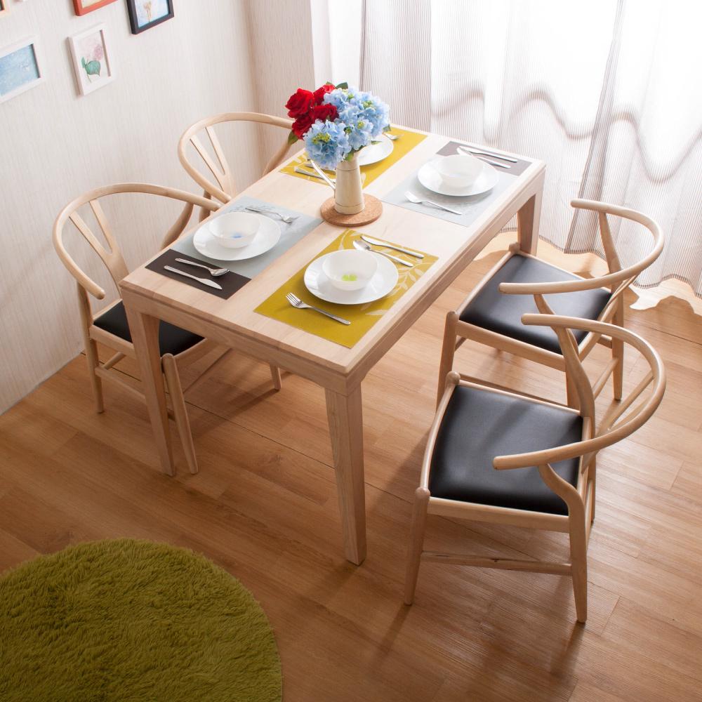 簡約風 杰羅姆餐桌+美爾頓餐椅-121x75x77cm