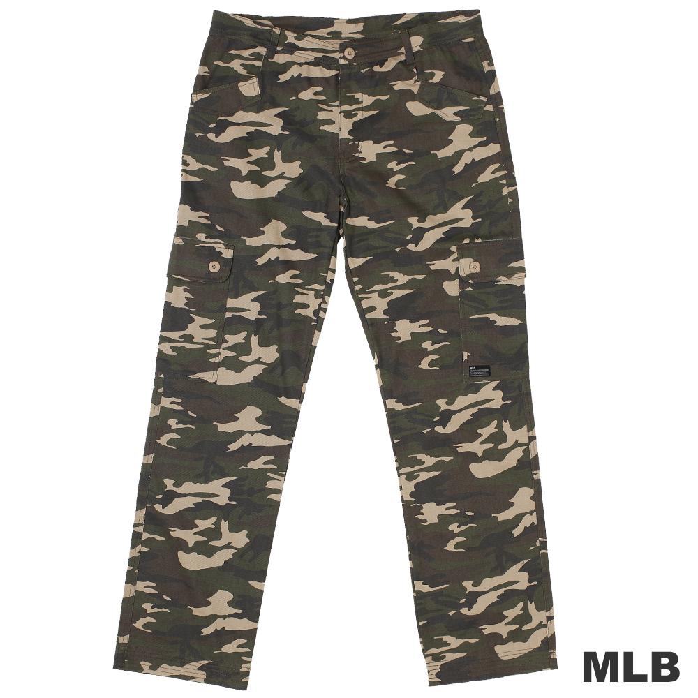 MLB-經典迷彩六口袋休閒長褲-綠(男)