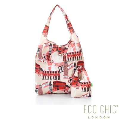 英國ECO CHIC折疊購物袋-英倫紅
