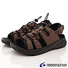 日本Moonstar戶外健走鞋-免綁帶涼鞋款-1833咖(男段)