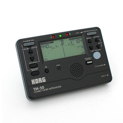 KORG TM-50 全功能冷光調音/節拍器(黑色)