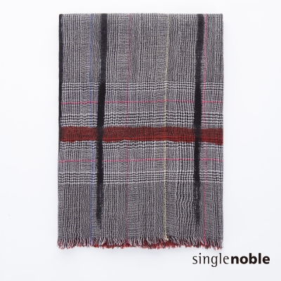 獨身貴族 築夢英倫經典寬格紋設計披巾(2色)