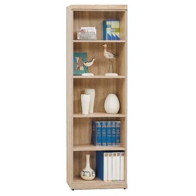 品家居 黛樂2尺開放式書櫃-59.9x31.8x180.3cm-免組