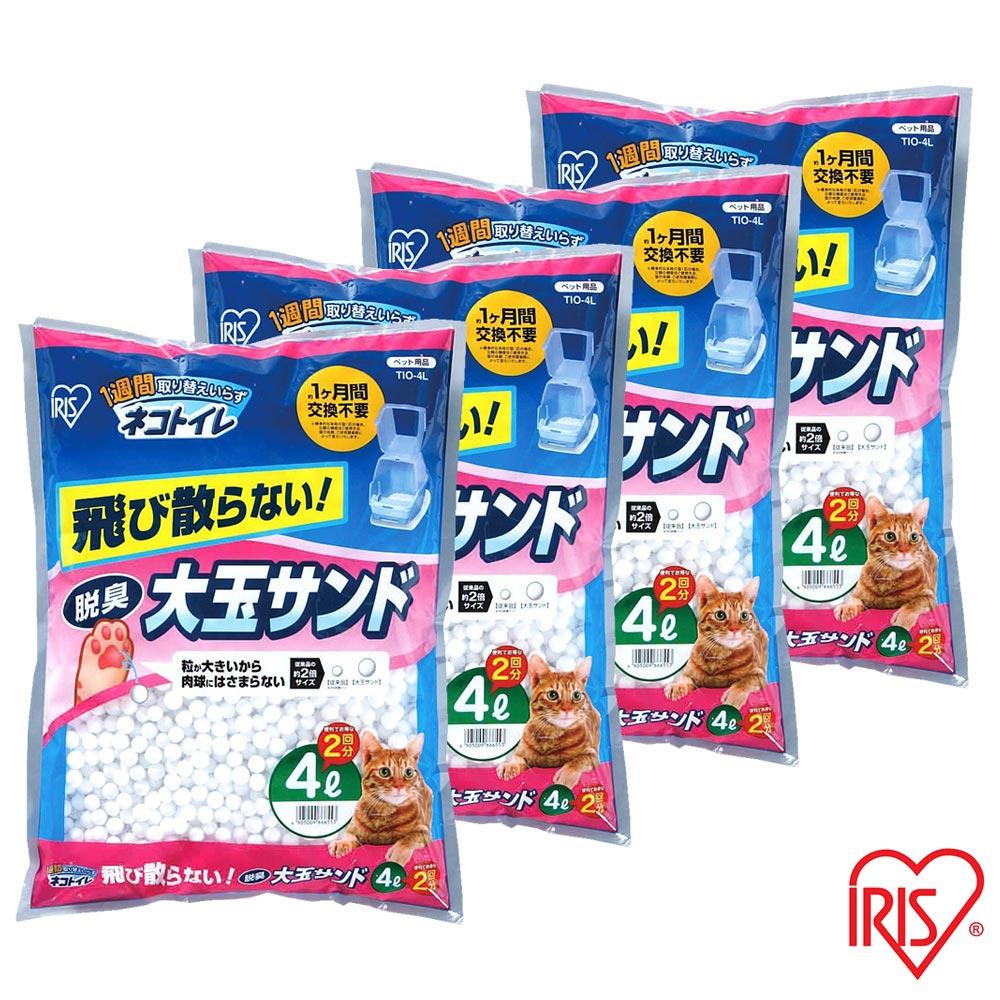 日本IRIS 大玉脫臭貓砂 (TIO-4L) - 4L X 4包入