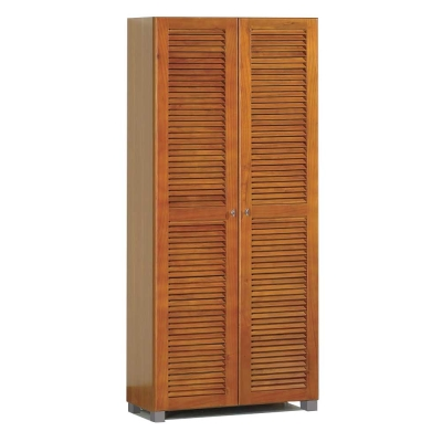 【群居空間】米蘭斯2.7尺實木百葉高鞋櫃