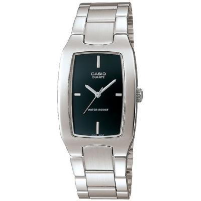 CASIO 清新時尚酒桶型指針紳士腕錶(MTP-1165A-1C)黑色丁字面/27mm