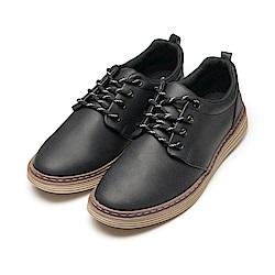 BuyGlasses 舒適皮質感紳士休閒鞋-黑