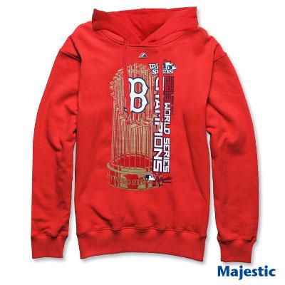 Majestic-波士頓紅襪隊世界大賽冠軍連帽厚T-紅