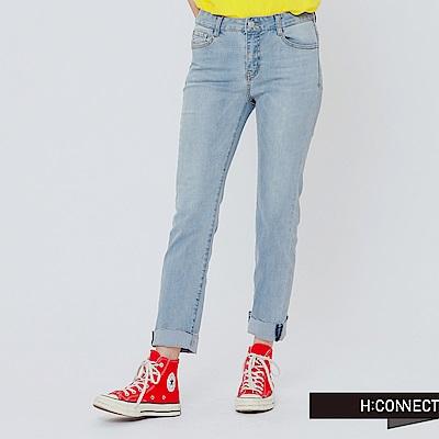H:CONNECT 韓國品牌 女裝-不收邊修身牛仔褲