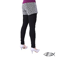 5B2F 五餅二魚 仿藤紋假兩件長褲(加厚內磨毛內搭褲)