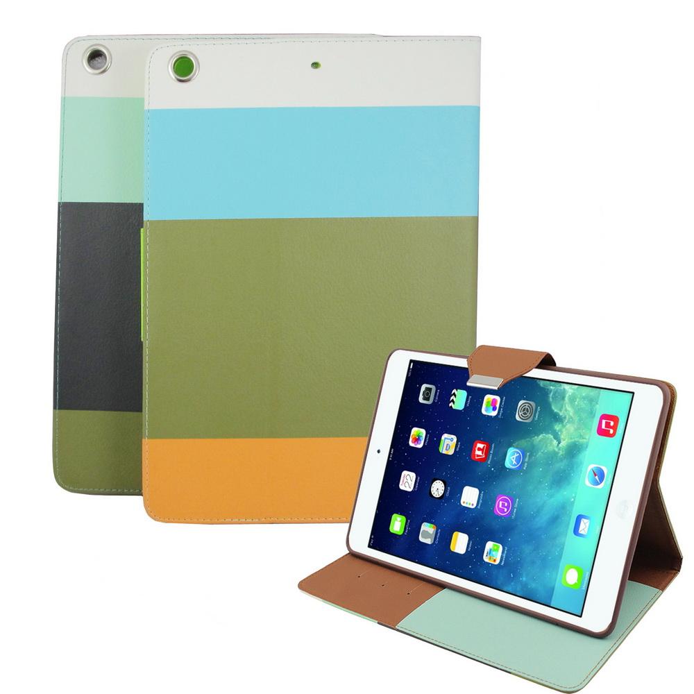 L62撞色支架iPad Air平板皮套&螢幕保護貼組(顏色隨機出貨)