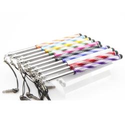 可伸縮防塵塞電容式觸控筆(2入)