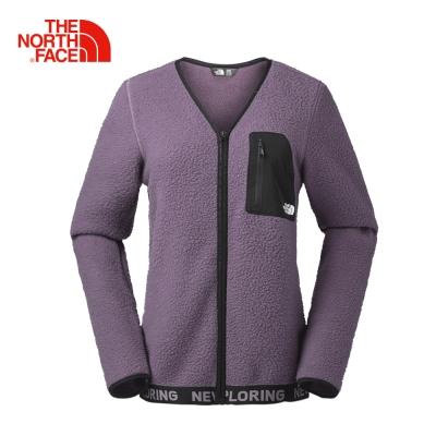 The North Face北面女款莓果紫色抓絨保暖外套