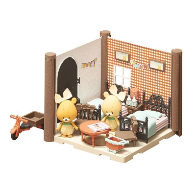 BANDAI 組裝模型 Haco Room 小熊學校 雙胞胎的房間套組