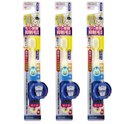日本EBISU-抑制蛀牙病菌兒童牙刷x2入-顏色隨機