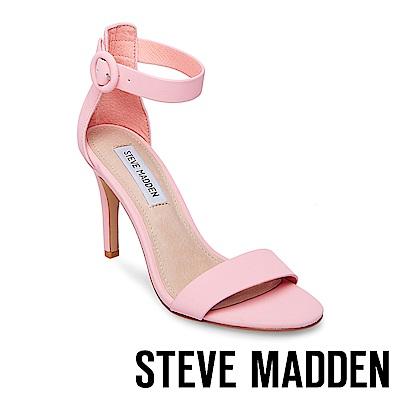 STEVE MADDEN-BORN 素面繞踝高跟涼鞋-粉紅