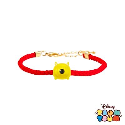 Disney迪士尼TSUM TSUM系列金飾 黃金編織手鍊-大眼怪款