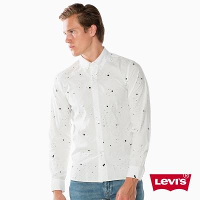 Levis 長袖襯衫 潑墨圖案 無口袋