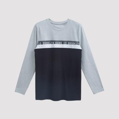 Hang Ten - 男裝 - 有機棉 潮感提條文字T恤 - 黑