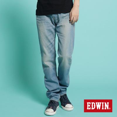 【EDWIN】復古合身 503 VINTAGE純棉AB牛仔褲-男款(拔淺藍)