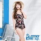 夏之戀SUMMERLOVE 豔麗連身三角泳衣