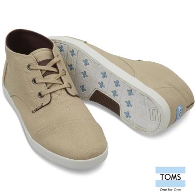TOMS 簡約織紋帆布休閒鞋-男款