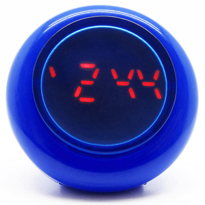 CLICK 復古大圓鍵快打電子腕錶-藍/45mm
