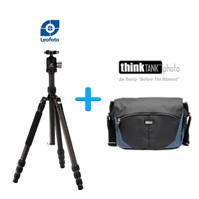 Leofoto LT2841+CB40腳架套組+Think Tank 側背相機包- 鐵灰藍